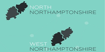 North Northamptonshire & West Northamptonshire logo