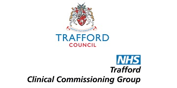 Trafford Council and NHS Trafford Clinical Commissioning Group (CCG) logo