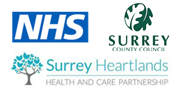 Surrey County Council & Surrey Heartlands ICS logo