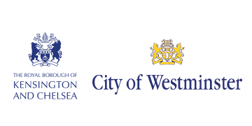 The Royal Borough of Kensington & Chelsea Council and City of Westminster logo